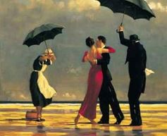 Paintings - umbrellas