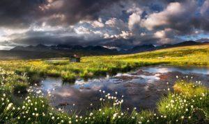 Rain creates landscapes