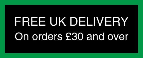 Free UK Delivery on orders £30 and over