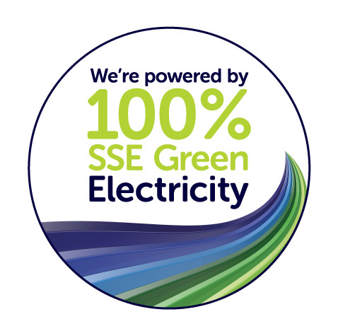 We are powered by 100% SSE Green Electricity